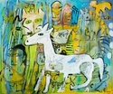 """White Goat"" by Adu Gindy [SOLD]"